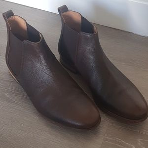 Clarks Men Brown Leather Ankle Boots